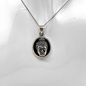 925 Sterling Silver Buddha Sculptured Necklace